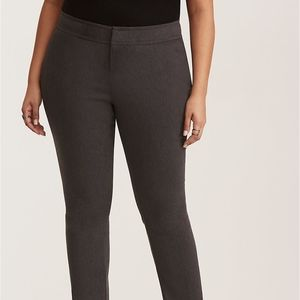 Torrid Grey Deluxe Stretch Straight Leg Pants